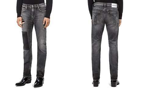 Calvin Klein Jeans Patched Slim Fit Jeans in Monly Patch Black - Bloomingdale's_2