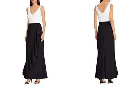 Lauren Ralph Lauren Ruffled Color-Block Gown - Bloomingdale's_2