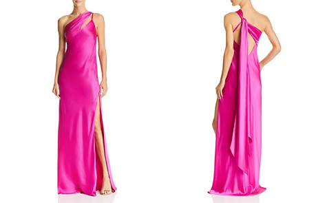 Michelle Mason One-Shoulder Silk Gown - Bloomingdale's_2