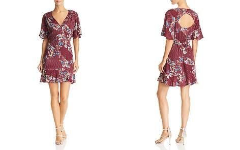 Band of Gypsies Samantha Printed Cutout-Back Dress - Bloomingdale's_2