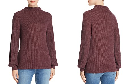 Three Dots Bishop Sleeve Thermal Top - Bloomingdale's_2