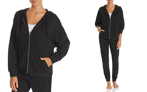 Calvin Klein Tonal Logo Lounge Full Zip Hoodie - Bloomingdale's_2