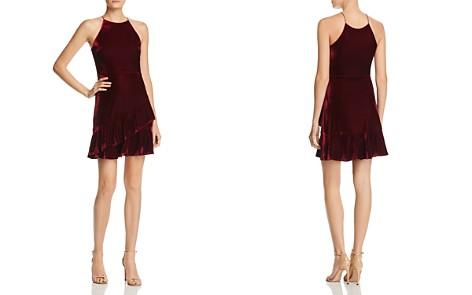 AQUA Velvet Flounce Dress - 100% Exclusive - Bloomingdale's_2
