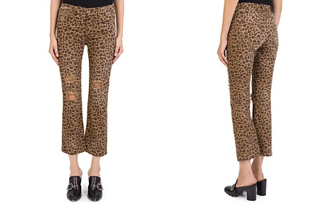 The Kooples Distressed Cropped Jeans in Leopard Chocolate - Bloomingdale's_2