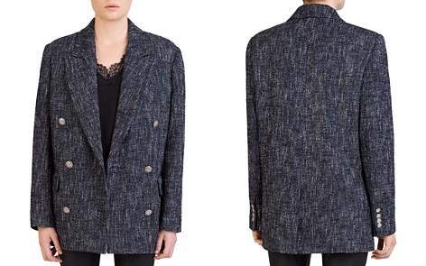 The Kooples Snow Tweed Double-Breasted Blazer - Bloomingdale's_2