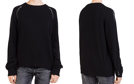 The Kooples Ring-Trim Crewneck Sweater - Bloomingdale's_2