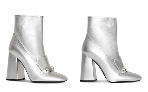 Burberry Women's Brabant Metallic Leather High Block Heel Booties - Bloomingdale's_2