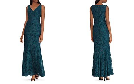 Lauren Ralph Lauren Fluted Lace Gown - Bloomingdale's_2