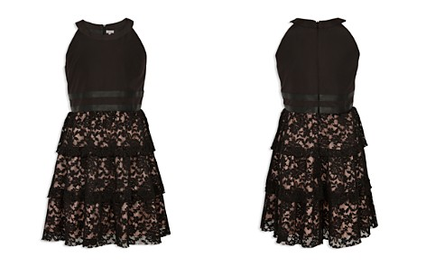 BCBG Girls' Tiered Lace Dress with Faux-Leather Trim - Big Kid - Bloomingdale's_2