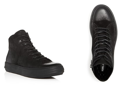 KARL LAGERFELD Men's Nubuck Leather High Top Sneakers - Bloomingdale's_2