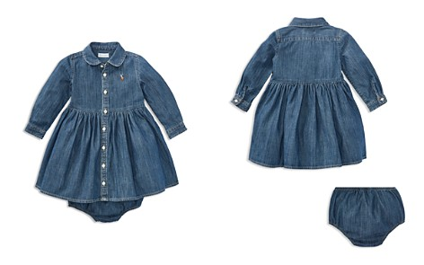 Polo Ralph Lauren Girls' Long Sleeve Denim Dress & Bloomers Set - Baby - Bloomingdale's_2