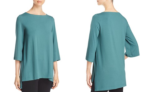 Eileen Fisher Petites Boat Neck High/Low Top - Bloomingdale's_2