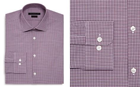 John Varvatos Star USA Micro-Check Regular Fit Dress Shirt - Bloomingdale's_2
