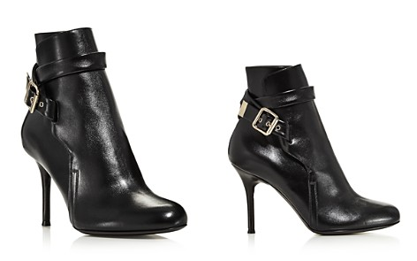 Chloé Women's Scott Round Toe Leather High-Heel Booties - Bloomingdale's_2