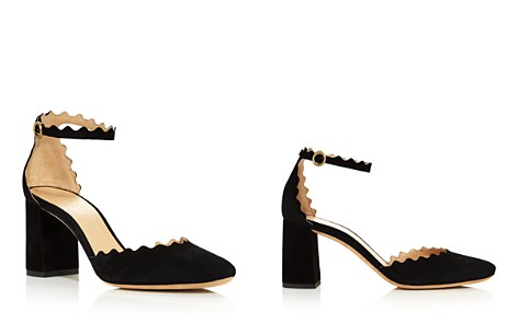 Chloé Women's Lauren Suede Ankle Strap Pumps - Bloomingdale's_2