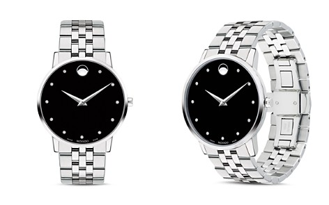 Movado Museum Classic Stainless Steel Diamond-Index Watch, 40mm - Bloomingdale's_2