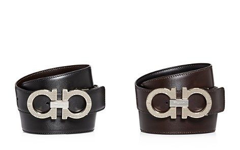Salvatore Ferragamo Etched Double Gancini Buckle Reversible Leather Belt - Bloomingdale's_2