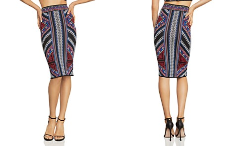 BCBGMAXAZRIA Jacquard Pencil Skirt - Bloomingdale's_2