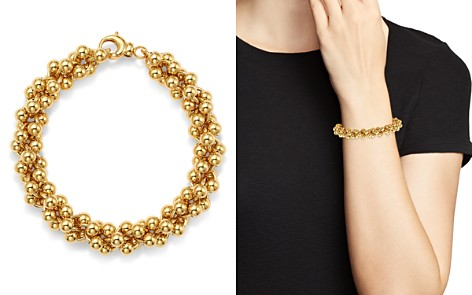 Bloomingdale's Cluster Bead Bracelet in 14K Yellow Gold - 100% Exclusive_2