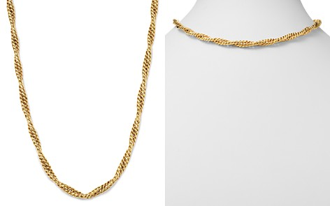"Bloomingdale's Twisted Curb Chain Necklace in 14K Yellow Gold, 17.75"" - 100% Exclusive_2"