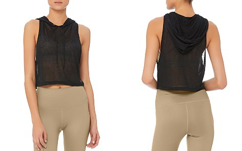 Alo Yoga Arrow Cropped Hooded Tank - Bloomingdale's_2