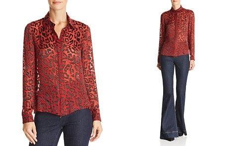 Alice + Olivia Willa Leopard Burnout Blouse - Bloomingdale's_2