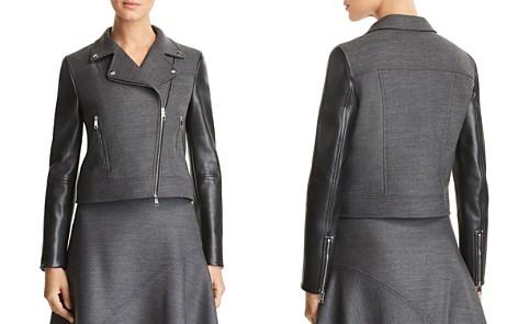 BOSS Judelina Mixed-Media Moto Jacket - Bloomingdale's_2
