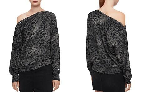 ALLSAINTS Kaarlo Paw Leopard Print Sweatshirt - Bloomingdale's_2