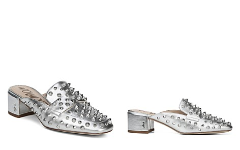Sam Edelman Women's Augustus Almond Toe Metallic Leather Mules - Bloomingdale's_2