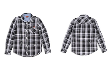 7 For All Mankind Boys' Distressed Plaid Shirt - Big Kid - Bloomingdale's_2