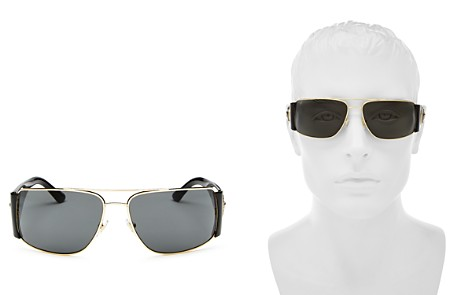 Versace Collection Men's Brow Bar Square Sunglasses, 63mm - Bloomingdale's_2
