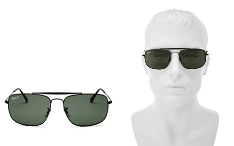 Ray-Ban Men's Polarized Brow Bar Aviator Sunglasses, 61mm - Bloomingdale's_2