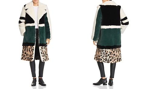 Heurueh Razor Color-Block Faux-Fur Coat - Bloomingdale's_2