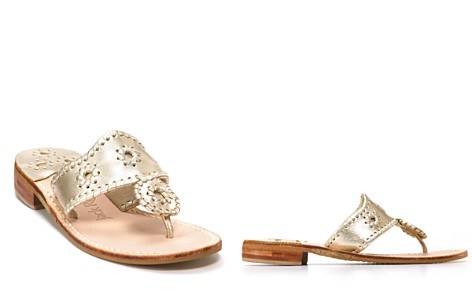 Jack Rogers Hamptons Metallic Thong Sandals - Bloomingdale's_2