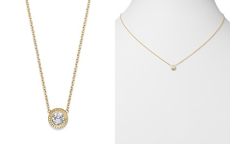 Bloomingdale's Diamond Pendant Necklace in 14K Yellow Gold, 0.25 ct. t.w. - 100% Exclusive_2