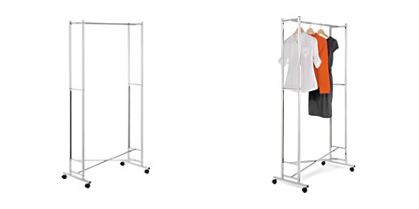 Honey Can Do Square Tube Chrome Folding Garment Rack - Bloomingdale's Registry_2
