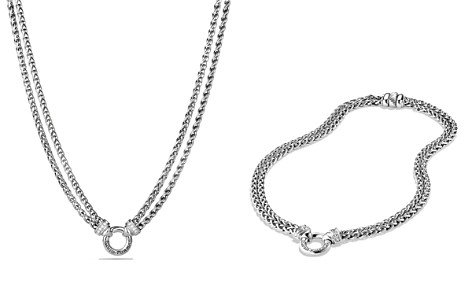 David Yurman Double Wheat Chain Necklace with Diamonds - Bloomingdale's_2