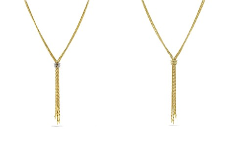 David Yurman Willow Tassel Necklace with Diamonds in Gold - Bloomingdale's_2