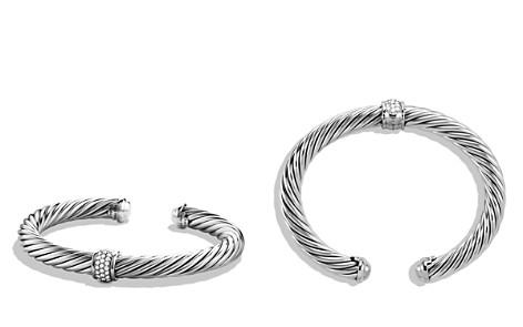 David Yurman Cable Classics Bracelet with Diamonds & White Gold - Bloomingdale's_2