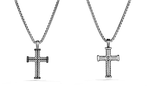David Yurman Chevron Cross with Black Diamonds - Bloomingdale's_2