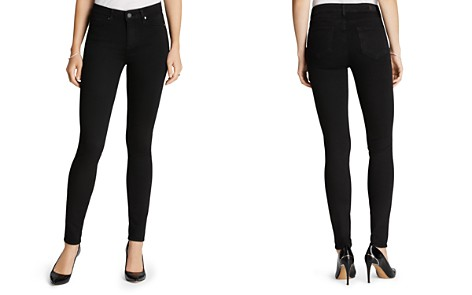 c2a0c409825b Paige Denim Jeans - Transcend Hoxton High Rise Ultra Skinny in Black Shadow  - Bloomingdale