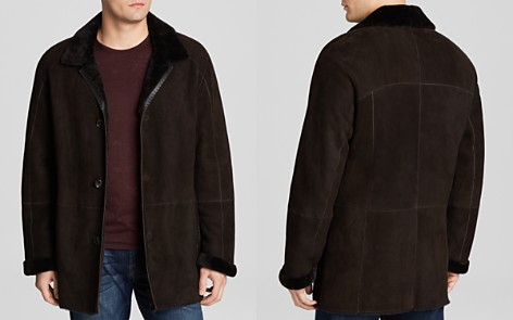 Maximilian Dyed Lamb Shearling Coat with Leather Trim - Bloomingdale's_2