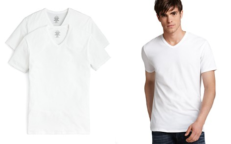 Calvin Klein Cotton Stretch V-Neck Tee, Pack of 2 - Bloomingdale's_2