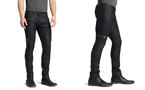 HUGO Jeans - 45 Moto Slim Fit in Black - Bloomingdale's_2
