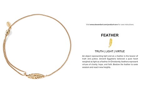 Alex and Ani Precious Metals Symbolic Feather Pull Chain Bracelet - Bloomingdale's_2