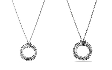 David Yurman Crossover Pendant Necklace with Diamonds - Bloomingdale's_2