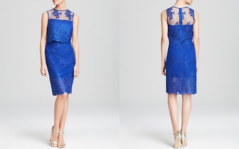 ML Monique Lhuillier Dress - Sleeveless Lace Two-Piece - Bloomingdale's_2