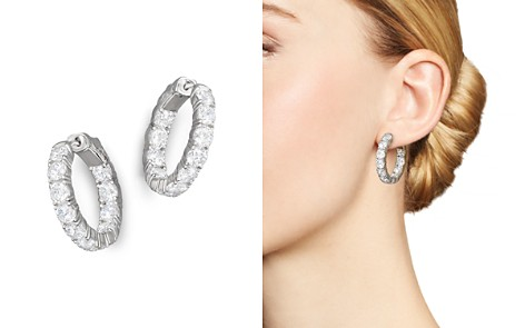 Certified Diamond Inside-Out Hoop Earrings in 14K White Gold, 5.50 ct. t. w. - 100% Exclusive - Bloomingdale's_2