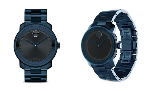 Movado BOLD Large Watch with Navy Dial, 42.5mm - Bloomingdale's_2