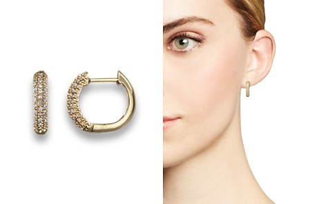Diamond Hoop Earrings in 14K Yellow Gold, .20 ct. t.w. - Bloomingdale's_2
